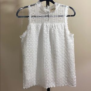 Listicle Lace Sleeveless Top